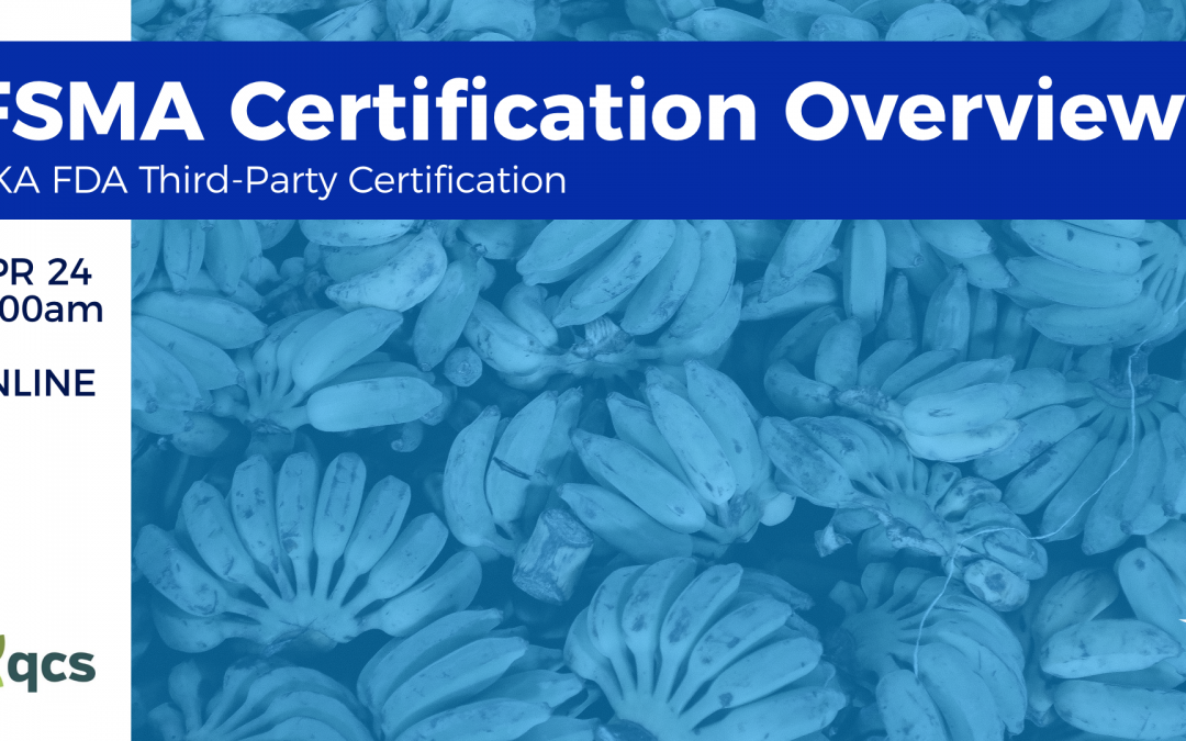 FSMA Certification Overview