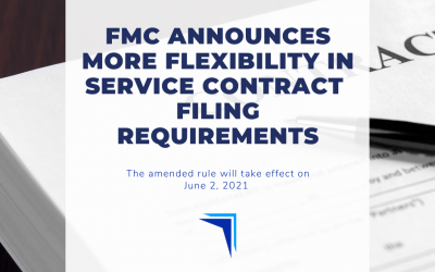 FMC announces more flexibility in service contract filing requirements